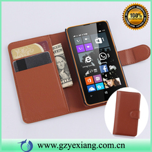 Brown Color Luxury PU Leather Flip Case For Nokia Lumia 430 Credit Card Wallet