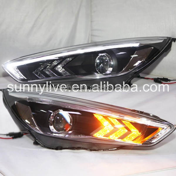 For FORD 2015 for Focus LED Head Lamps for Mustang style PW