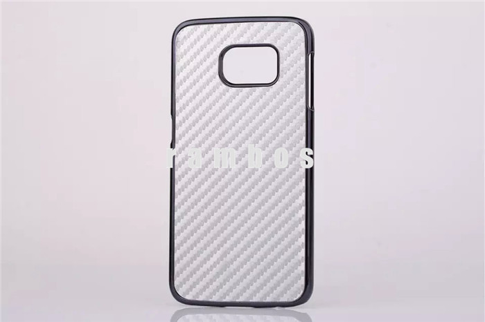 High Quality Carbon Fiber Leather Coated Electroplated Hard Cover Phone Cases for Samsung Galaxy Note 3 4
