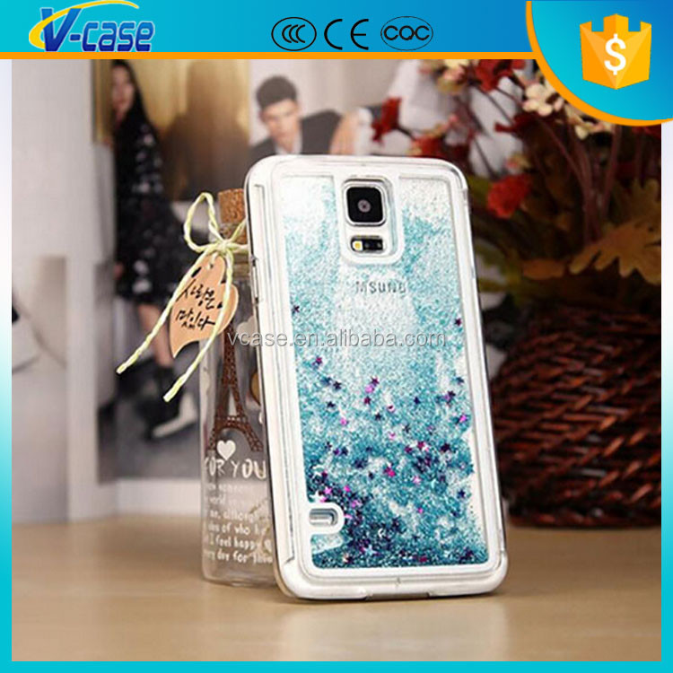 Liquid Glitter Moving Phone Cover Case For Samsung Galaxy S5 Gt-19600