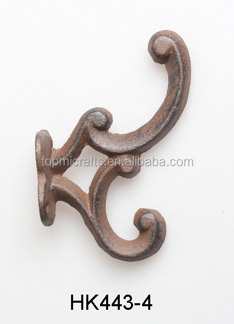 CAST IRON HORSESHOE DESIGN SWING WALL HOOKS