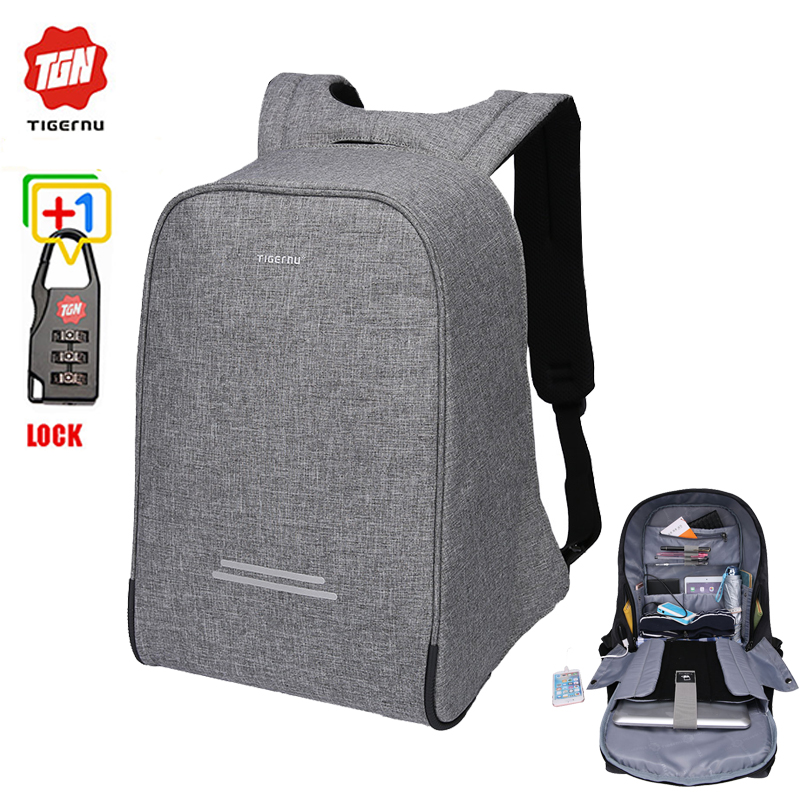 Super Anti theft laptop <strong>backpack</strong> with charger USB rain cover and lock function bag