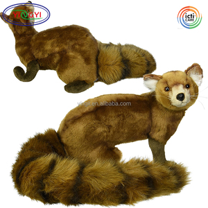 D315 Vivid Wild Mongoose Plush Animal Stuffed Toy Lifelike Brown Soft Mongoose Plush Toy