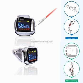 LED display cold soft laser watch treatment high blood fat device