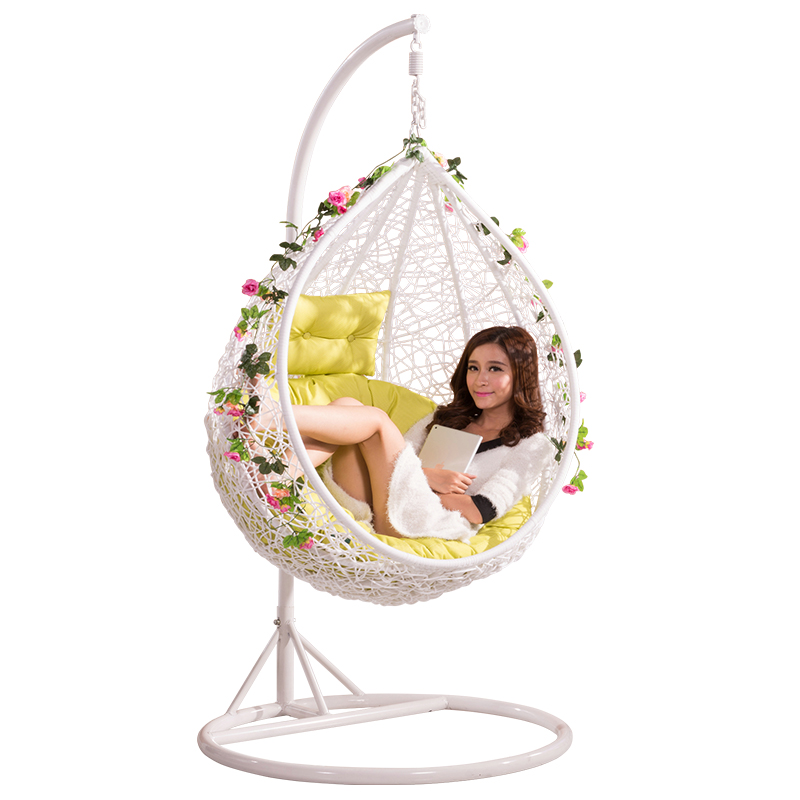 Cheap Outdoor Patio Indoor Bedroom Wicker Rattan Hanging Chair