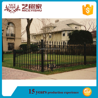 Cheap simple prefab metal fence panels/iron fence philippines/decorative used wrought iron fencing for sale