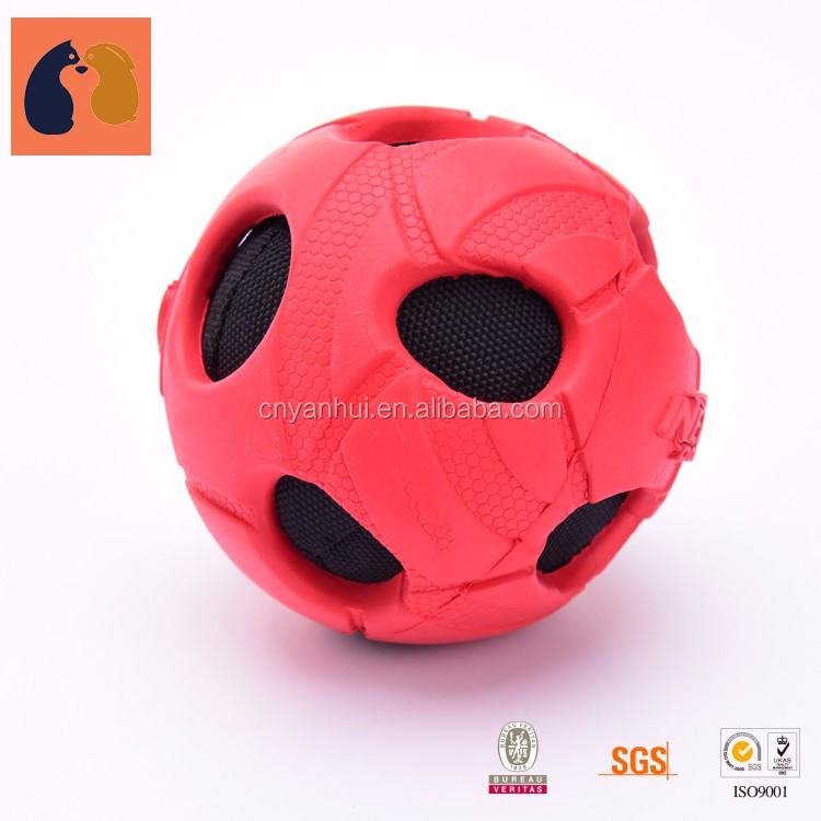 Christmas Squeaky Dog Toys Durable Balls Throw Natural Rubber Toys