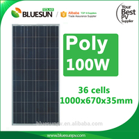 Polycrystalline solar panel 100wp 100w 12v for sale