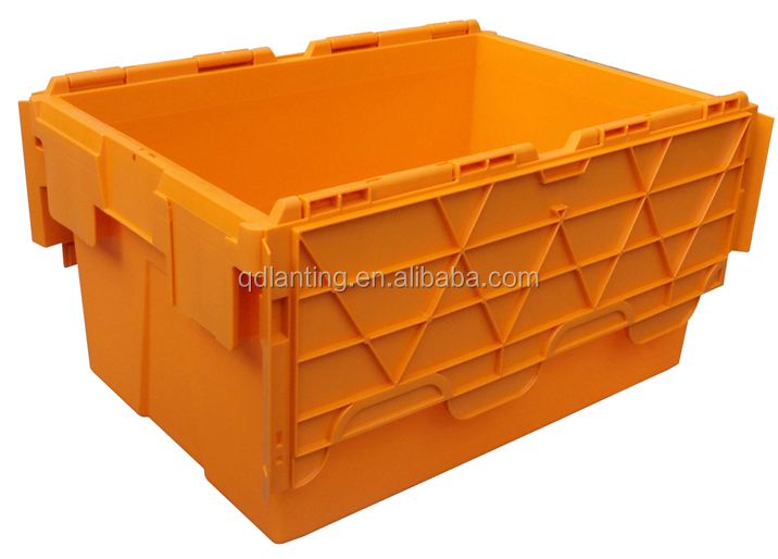Heavy duty 50l stackable plastic storage crates