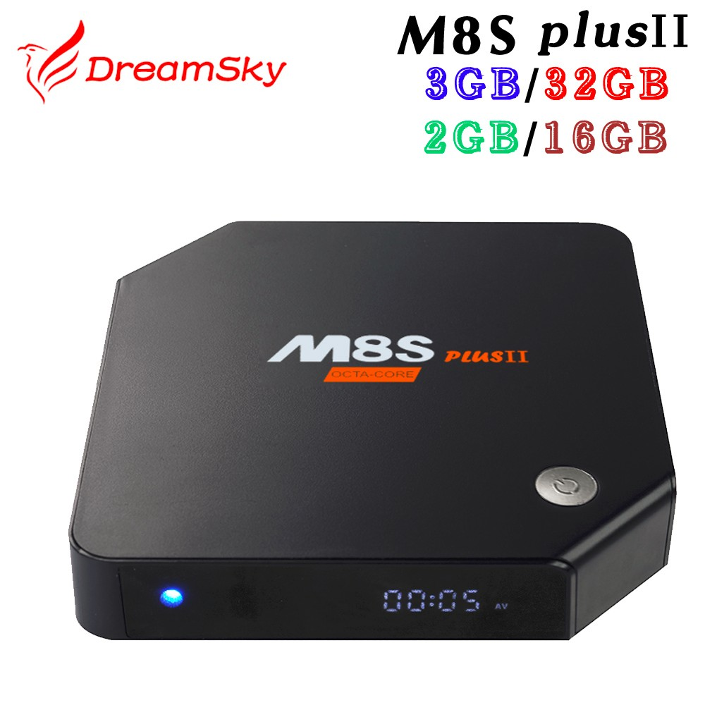 M8S Plus II 3GB ROM 32GB Amlogic S912 Octa Core Android 6.0 TV Box RAM 2.4GHZ&5.8GHZ Dual WIFI H.265 4K Media Player 2GB 16GB