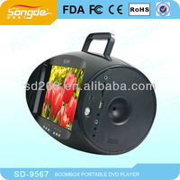 "New design 9.5"" Digital Panel Portable tv boombox with AV TV USB SD FM Function"