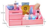 High quality plastic functional storage container with drawer for cosmetics