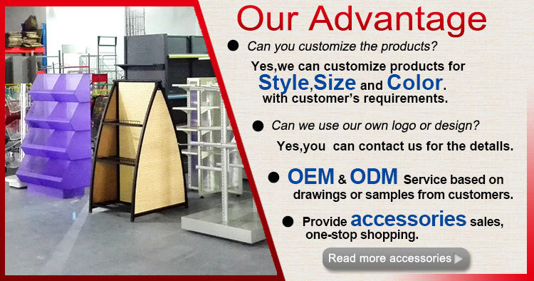 factory direct Oem And Odm metalretail beauty products display shelf