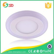 SHANGDA Recessed Lightness 220V dimmable Warm White 9+3w round 20w panel light