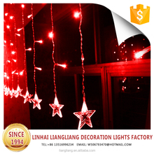 hot sale christmas outdoor decorations led light red starry curtain