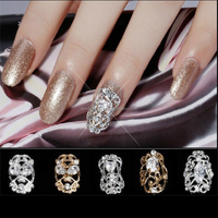 Nail Art Decoratioin 2015 Popular Alloy Hollow Nail Tip for 3D Nail Art Decoration