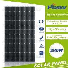 Mono Crystalline Silicon Photo Voltaic a import solar panel Cells 280watts solar panel price