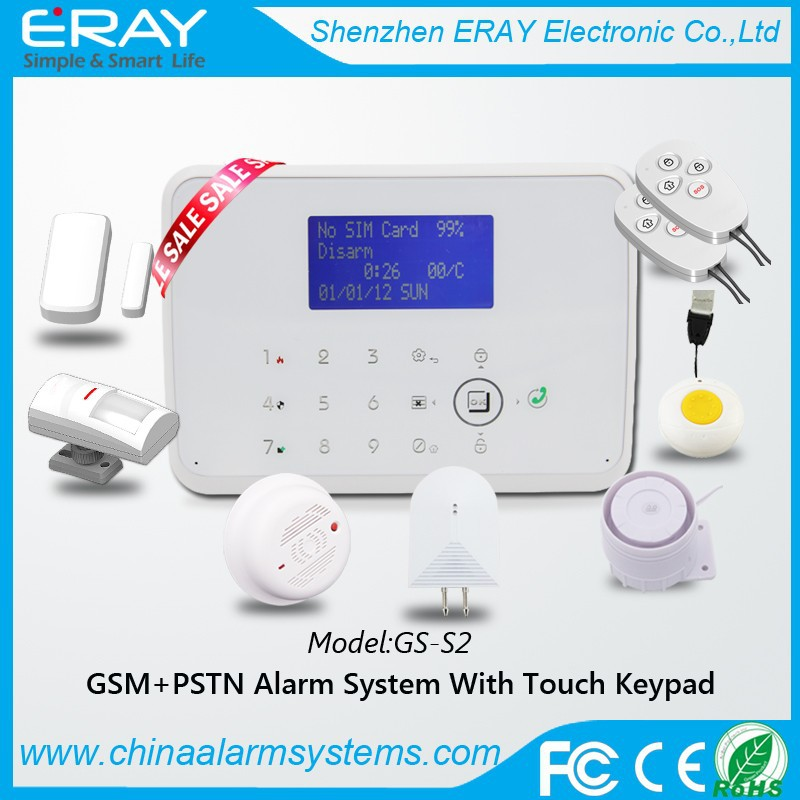 Wireless <strong>gsm</strong>+pstn Intruder Securityn Home Alarm System with APP control for house safety and burglar alarm