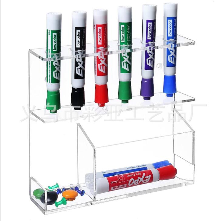 Clear Dry Erase Marker Holder for Office Multi Holes