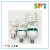 tri-color energy saving light bulb 125w cfl grow light half spiral energy saving lamps 5500k