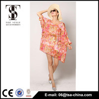 Collection of ladies sexy chiffon printing soft beach wear