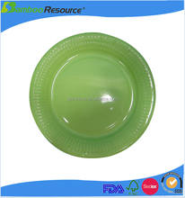 Emerald Green high quality disposable Paper Plates
