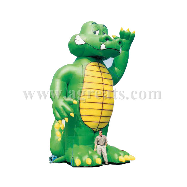 10m High giant inflatable green animal for advertising S2008