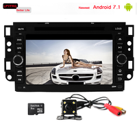 2 double din 7'' touch screen car Stereo with 3g for chevrolet lova epica aveo android 7.1 DAB+ tpms car dvd player for chevrole