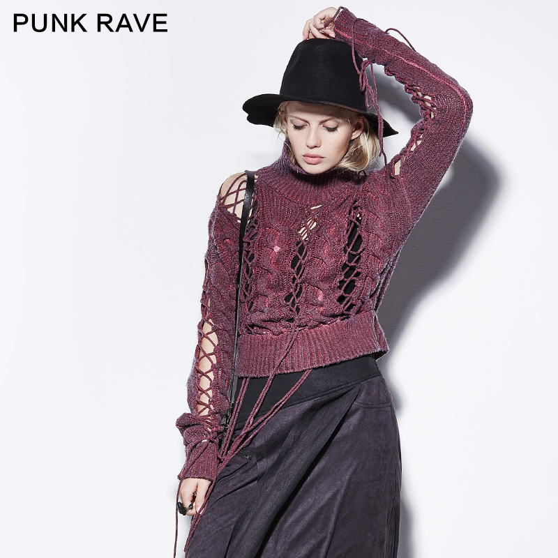 PM-030 PUNK Ripped Moon Cashmere Design Of Hand Made Sweaters