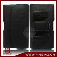 Belt clip leather wallet mobil phone pouch case for iphone 4 4s 5 5s