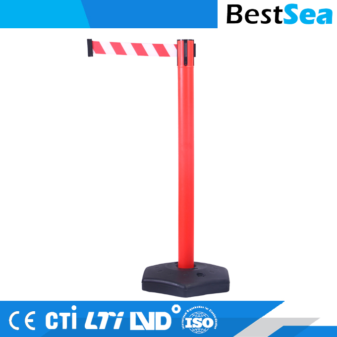 Retractable belt traffic stanchions post