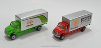 metal toy truck and trailer 1:87 free wheel mini truck sale promotion BSCI certification diecast car mini container truck