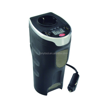 Cup-Shaped DC to AC Power Inverter with Digital Display