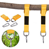Tree Swing Straps Hanging Kit (Set of 2)-10ft Long Straps with Two Zinc Alloy Carabiners2000Lbs Break Strength For Swings