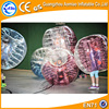 2016 new type tpu best quality half color human bubble ball for football