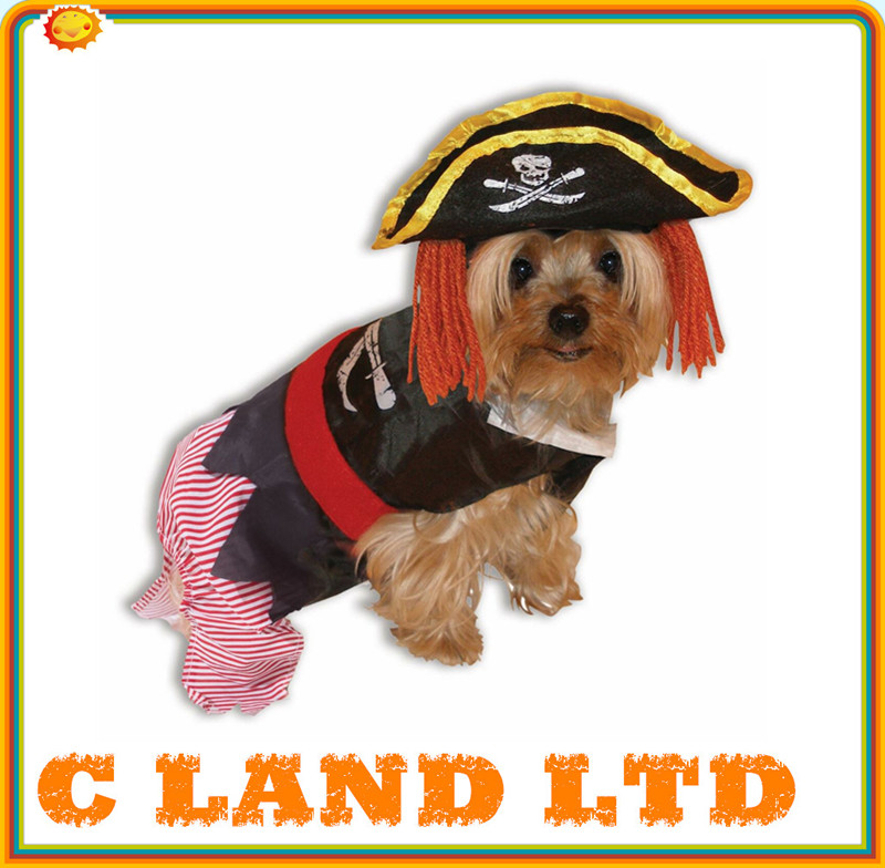 Wholesale Pet party Clothing Clothes pirate Costume Dog Apparel