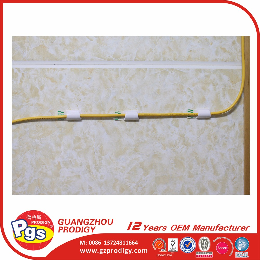 plastic wall cable holding clip double plastic cable clips