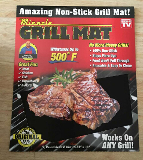 Factory OEM Keli Mircale Grill Bake Nonstick BBQ Mats Easy Baking Grilling , As Seen on TV Amazon hot selling