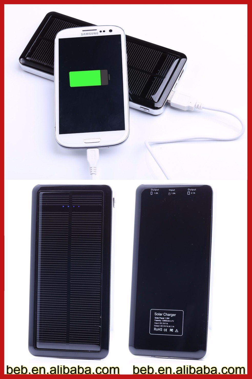 Best solar photovoltaic battery charger for travelling and hiking