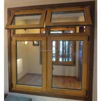 Customized top quality wood clad aluminum door and window