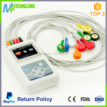 2017 High quality 3 lead ecg macine CE approved Portable handheld channel 12 Holter ECG machine