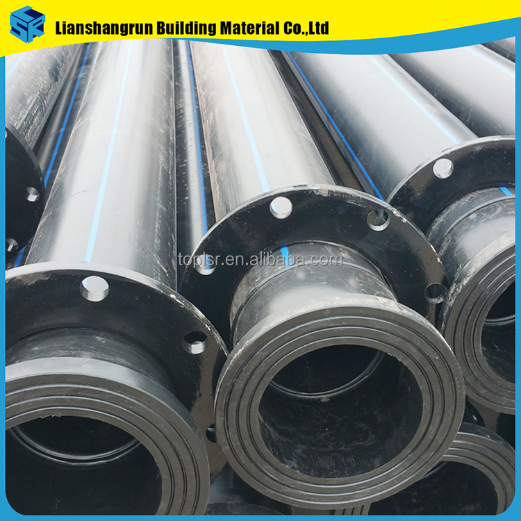 black drain pipe 350mm hdpe road culvert plastic pipe