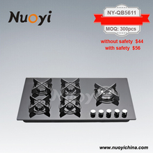 Glass top Gas Stove 5 burners with 1 year warranty