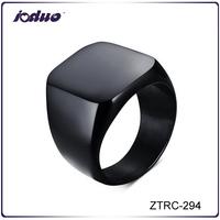 Black Men Stainless Steel Finger Ring ZTRC-294