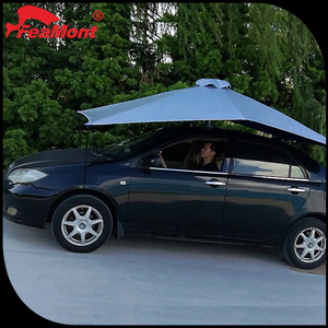 Manual aluminium sliver fabric car sun shape umbrellas,fireproof car cover