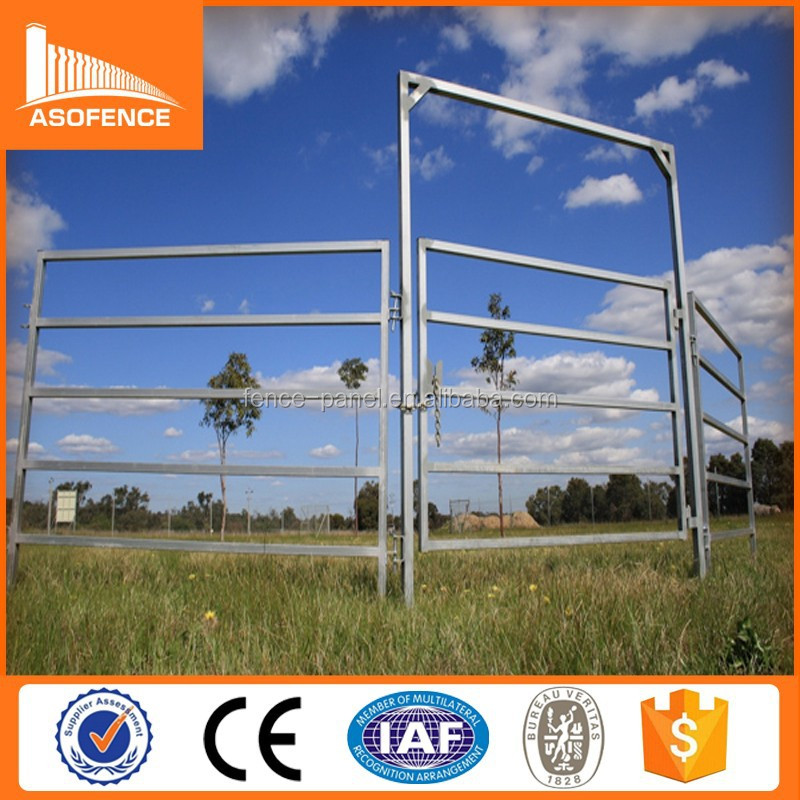 Galvanized Welded metal farm fence panel for livestock / galvanized farm gates