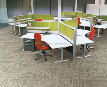 Hexagon Shape Modular Commercial Carpet, Fire Resistant Carpet Tiles For Office