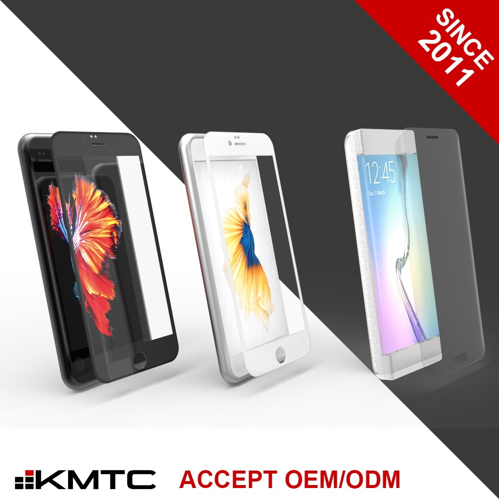 KMTC OEM/ODM 3D Technology 9H Hardness Lcd Screen Protector For Iphone 6 For Iphone 6 Plus