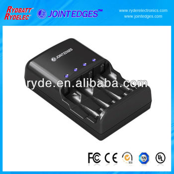 4 slot AA/AAA Ni-MH LED Rechargeable Battery charger