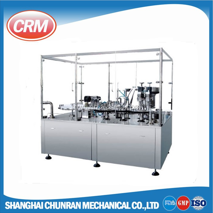 antibiotic vial powder filling and capping machine production line with rubber stopper plugging equipment